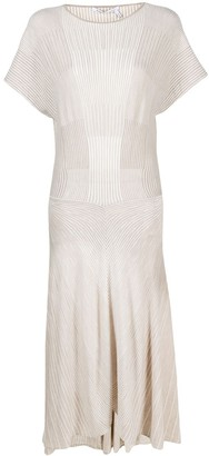 Agnona Panelled Wool-Knit Dress