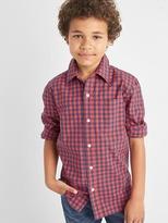 Americana plaid long sleeve shirt