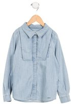 Chloé Girls' Collared Chambray Top