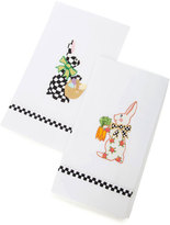 Mackenzie Childs MacKenzie-Childs Bunny Guest Towels, Set of 2