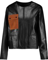 Sandro Virgil Suede-Paneled Leather Jacket