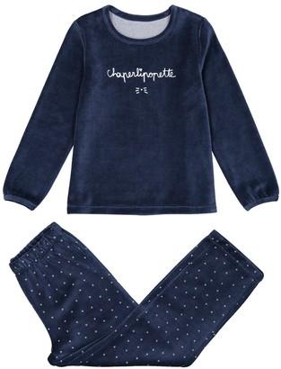 La Redoute Collections Velour Pyjamas 2 - 14 Years