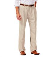 Haggar Smart Fiber Herringbone Dress Pants - Classic Fit, Pleated Front, Hidden Expandable Waistband