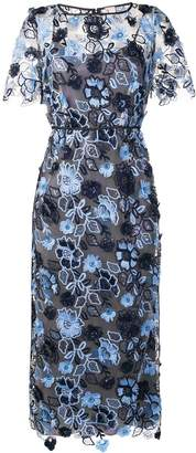 Antonio Marras floral embroidered midi dress