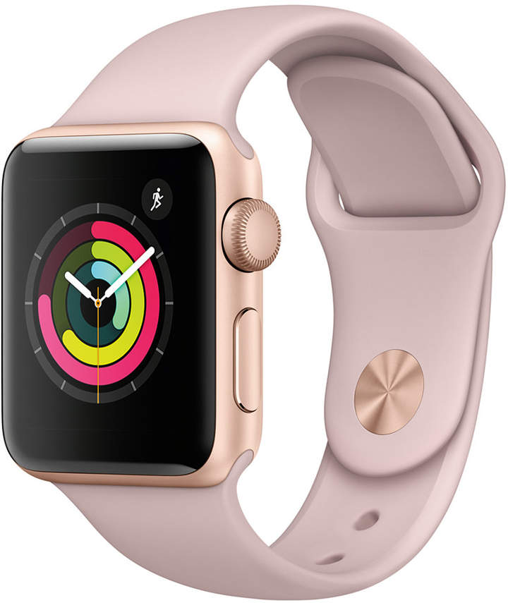 Apple Watch Series 3 (Gps), 38mm Gold Aluminum Case with Pink Sand Sport Band
