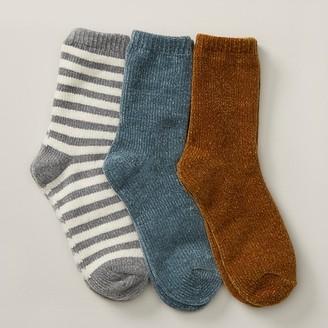 Love & Lore Boxed Socks Slate, Gold & Stripes
