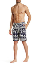 Trunks Tropical Print Swim Trunk