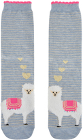 Accessorize Fluffy Llamas In Love Socks