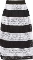 Izabel London *Izabel London Multi Striped Lace Midi Skirt