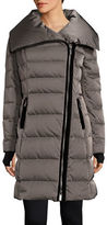 Vera Wang Asymmetrical Zip Puffer Down Coat