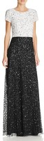 Adrianna Papell Petites Embellished Color Block Gown