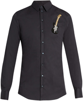 Dolce & Gabbana Sicilia-fit guitar-embellished single-cuff shirt