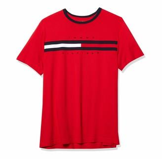Tommy Hilfiger Men's Big and Tall Short Sleeve Logo T-Shirt