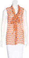 Prada Polka Dot Sleeveless Top