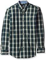 Izod Men's Long Sleeve Tartan Non Iron Plaid Shirt
