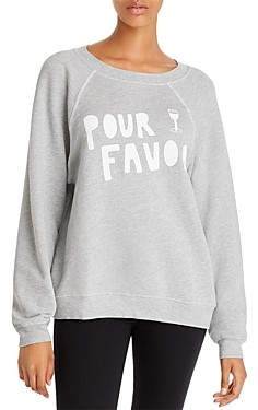 Wildfox Couture Sommers Pour Favor Sweatshirt