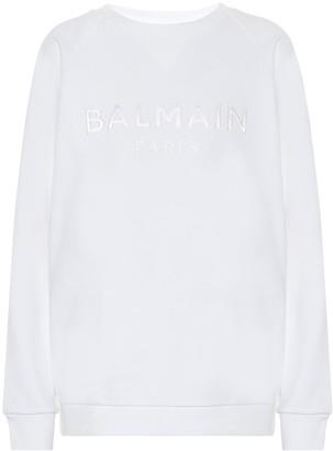 Balmain Logo cotton-jersey sweatshirt