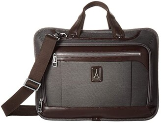 Travelpro Platinum(r) Elite - Expandable Business Brief (Vintage Grey) Briefcase Bags