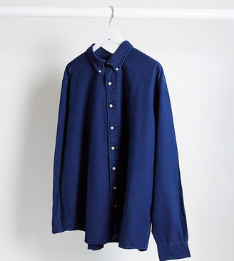 Polo Ralph Lauren Big & Tall player logo oxford shirt buttondown in indigo blue