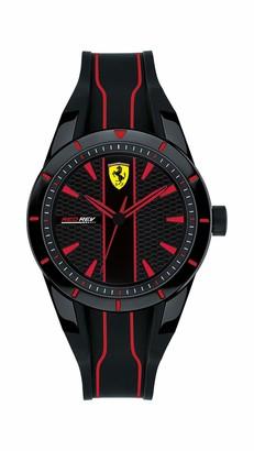 Ferrari Men's Red Rev Quartz Watch with Silicone Strap