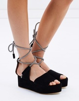 Whistles Molino Rope Suede Wedges