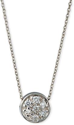 Roberto Coin 18k Diamond Pave Circle Pendant Necklace