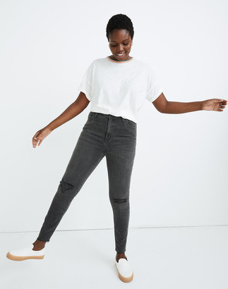 Madewell Tall Curvy High-Rise Skinny Jeans in Black Sea