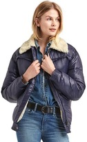 Gap ColdControl Max sherpa-lined puffer jacket