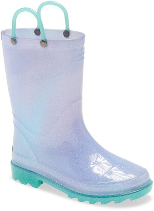 Western Chief Glitter Ombre Light-Up Waterproof Rain Boot