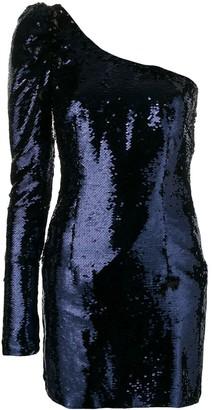 Amen Sequined One-Shoulder Dress