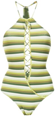 AMIR SLAMA Striped Swimsuit