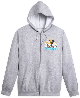 Disney Mickey Mouse and Friends Zip-Up Hoodie for Adults Disneyland