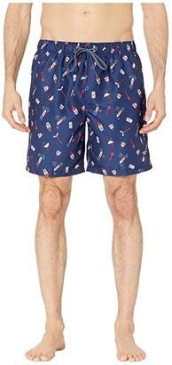 Speedo Americana Print Volley 18 Navy) Men's Swimwear