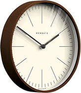Newgate Master Clarke Wooden Wall Clock, Dia.28cm, Dark Wood