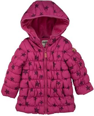 Osh Kosh Oshkosh Bgosh Toddler Girl OshKosh Bgosh Magenta Star Long Length Coat