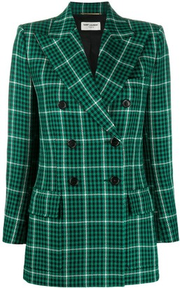 Saint Laurent Prince of Wales check-pattern blazer