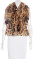 Just Cavalli Fox Fur Vest