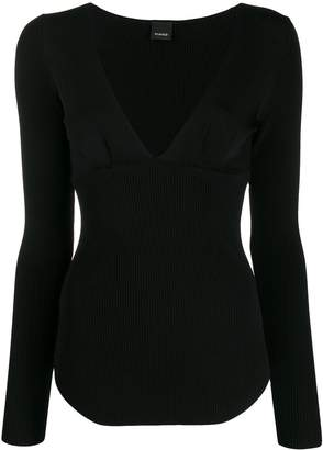 Pinko long-sleeve fitted sweater