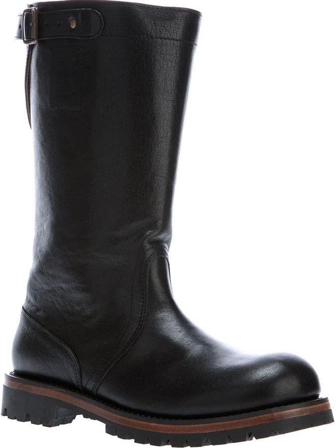 Ann Demeulemeester classic biker boots