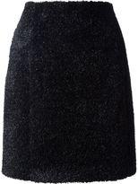 Carven faux fur skirt
