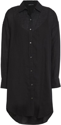 James Perse Linen Mini Shirt Dress