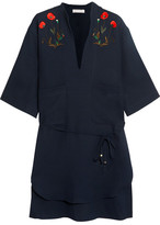 Stella McCartney Embroidered Cotton Shirt - Navy