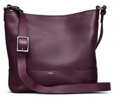 Shinola Small Relaxed Leather Hobo Bag - Purple