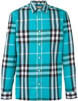 Burberry checked shirt - men - Cotton/Polyamide/Spandex/Elastane - M