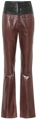 ZEYNEP ARCAY Flared leather pants
