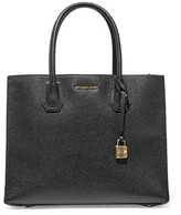 MICHAEL Michael Kors Mercer Large Textured-leather Tote - Black