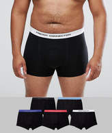 French Connection PLUS 5 Pack Boxers Contrast Waist Bands