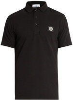 Stone Island Logo-patch Stretch-cotton Polo Shirt