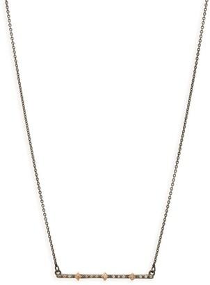 Armenta New World Multi Crivelli Diamond Bar Necklace
