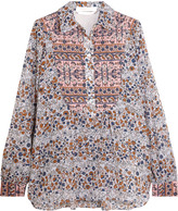 See by Chloe Quilted floral-print cotton blouse